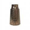 Vase en céramique - Décor craquelé - bronze - PM