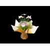 """Bouquet bulle 7 tiges prêt à remplir -  Kraft neutre / crème + pick """"PAPILLON"""""""