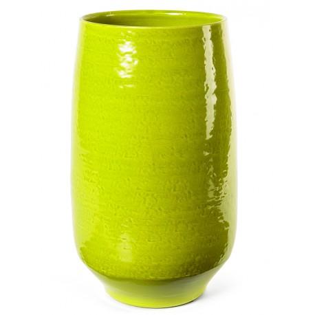 Vase céramique artisanale - Vert anis