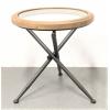 Table ronde avec plateau en verre