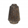 Vase évasé en céramique - Décor strié - bronze - GM