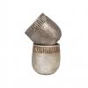 """Cache pot rond - Collection """"Martelé"""" - Mix 2 couleurs bronze / or ligth - PM"""