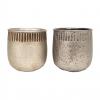 """Cache pot rond - Collection """"Martelé"""" - Mix 2 couleurs bronze / or ligth - GM"""