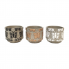 "Cache pot rond - collection ""Papillon""- Mix 3 couleurs - PM"