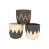 """Cache-pot rond - Collection """"Coquille d'oeuf"""" - Mix 3 décors - MM"""