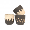 """Cache-pot rond - Collection """"Coquille d'oeuf"""" - Mix 3 décors - GM"""